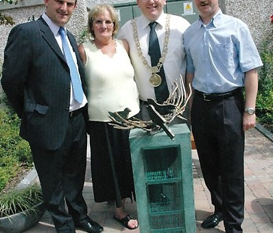 Sean With Cllr Paul Mahon Joan McLoughney And Lord Mayor