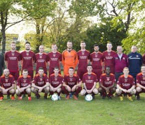 Seán congratulates Donnycarney FC Premier B team who were crowned champions for 2013/2014