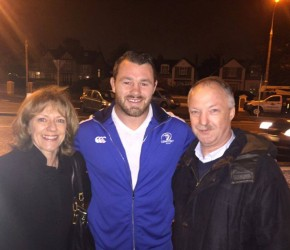 Rugby International, Cian Healy switches on the Christmas lights in Killester