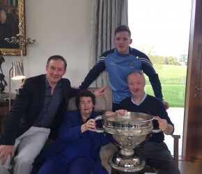 Dublin Manager Jim Gavin and Paul Flynn wish my mother Maureen a happy 90th birthday