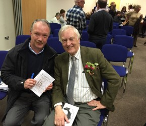 "With local historian Pat Liddy at the launch of the book ""Donnier - Memories from Donnycarney"