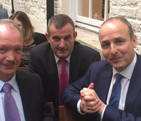 With Cllr. Seán Paul Mahon and Micheal Martin TD in Dublin Castle at the Veronica Guerin 20th Anniversary commemoration