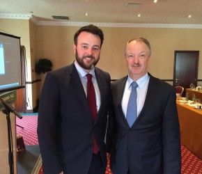 Discussing Brexit with Colum Eastwood MLA, Leader of the SDLP
