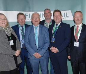 At the 2016 FF Brexit conference with Ruth Tallon, Danny Kinahan MP, Declan Breathnach TD, Michael Dougan and Darragh O'Brien TD