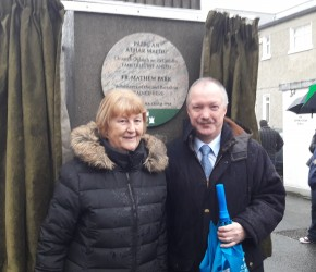 Moya Henderson with Seán Haughey