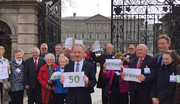 Commemorating the announcement 50 years ago of the Free Travel scheme