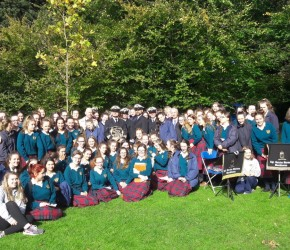 Peace Tree Ceremony, St. Anne's Park, with Holy Faith Clontarf students