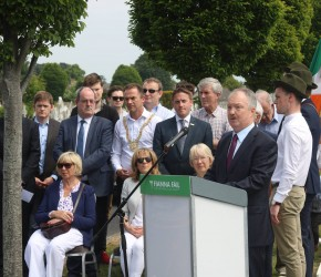 D​elivering the Graveside Oration at the Annual Seán Lemass Commemoration, Deansgrange, 2018