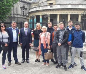 With the Tutors and Learners from KLEAR Adult Education Centre Kilbarrack in Leinster House