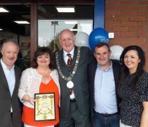 At the reopening of the St. Vincent DePaul Charity Shop in Coolock Village by Lord Mayor Nial Ring