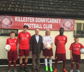 At the launch of Killester Donnycarney FC and their new kit