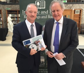 With Vincent Browne at the launch of an oral family history project