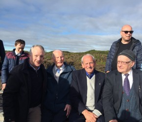 A seat is unveiled in Howth to commemorate the Howth tram and its drivers and conductors
