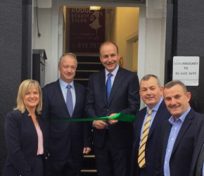 Micheál Martin performs the official opening of my constituency office at Maypark, Donnycarney
