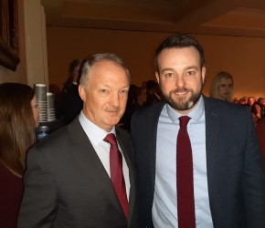 With SDLP Leader Colum Eastwood at the 2019 FF Ard Fheis