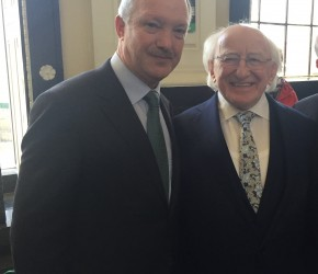 With President Michael D. Higgins in the GPO to commemorate the 103rd Anniversary of the 1916 Rising