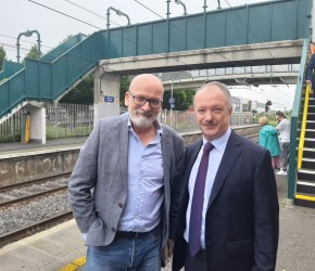 With writer Roddy Doyle in Kilbarrack