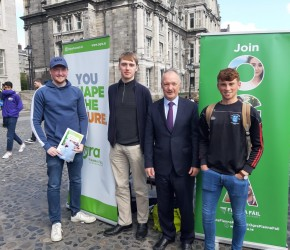 With Members of the Wolfe Tone Cumann-Freshers Week, TCD, 2019