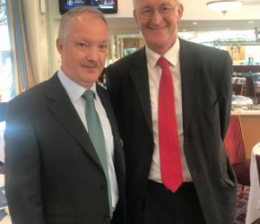 With Hilary Benn MP, Leinster House